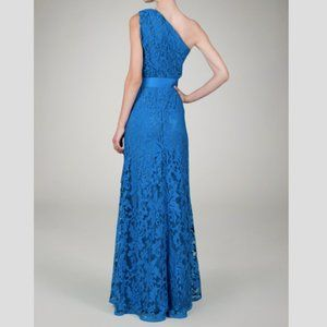 Tadashi Shoji One shoulder Lace Embroidered Gown